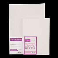 A3 Centura Pearl Hint of Silver Snow White Card - 25 sheets per p-726512