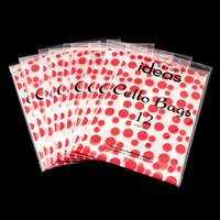 Set of 108 Cellophane Bags - Red Spots Collection - 17.5x28cm Eac-728324