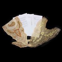 Craft Yourself Silly 2 x Organza Kaftan Collar inc Sleeve Trims &-728860