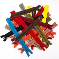 Set of 25 Closed End Zips - Assorted Colours & Sizes - 6