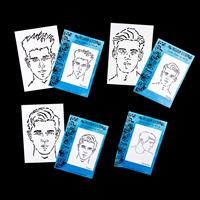 Craftascope 4 x A5 Media Stencils - Trent, Xander, Bailey and Bre-730530