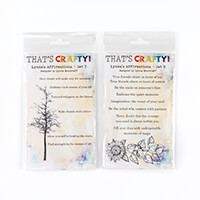 That's Crafty! Set of 2 Pick n Mix A6 Lynne's Affirmation Clear S-732555