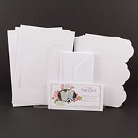 Which Craft? Tri Fold Tag Card Set of 8 Cards with 8 Frame Additi-733981