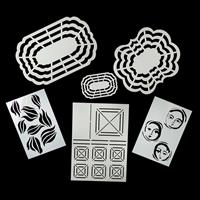Set of 6 Masks & Templates In Assorted Sizes & Designs-734665