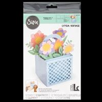 Sizzix® Thinlits™ Set of 12 Dies - Card in a Box Flower Basket by-736081