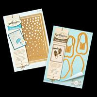 Spellbinders 2 x Die Sets - Gents Shoes & Cascading Hearts - 6 Di-736522