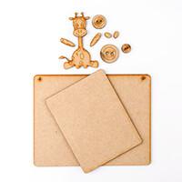 Karacter Krafts Memo Board with Cute Animal Embellishments-737873