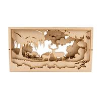 Samantha K 40cm Large Deer Forest Shadow Box-739108