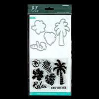 Kaisercraft Paradise Relax Die and Stamp Set - 4 Dies & 7 Stamps-739248