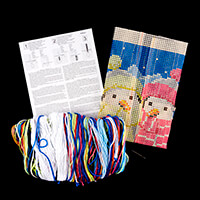 Stitch Kits Penguins in Scarves Cushion Front Cross Stitch Kit-740161