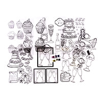 Glitter Magic Acetate Kit - Wedding - 8 x Acetate Sheets and 4 x -741416