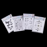 Sentimentally Yours 4 x Stamp Sets - Dragonflies, Tea & Coffee, C-741435