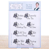 Sentimentally Yours Stamp Set - Chic Floral 'Occasions' Sentiment-742423