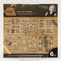 Sara Signature Black & Gold - Foil Transfers Set of 6-743362