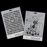 Imagination Crafts 2 x A4 Art Stencils - Fleur De Lis and Vintage-744701