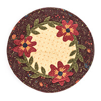 Juberry Fabrics Garden Flowers Table Topper Kit - Approx. 19