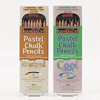 Pastel Chalk Pencils - 8 Neutral & 8 Cool Colours-745566