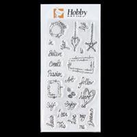 Hobby Art Clear DL Stamp Set - Journal Words designed by Lisa Pea-745861