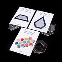 Daisy & Grace 'Quilt As You Go' Template Pack of 3 - Contains Hex-746150
