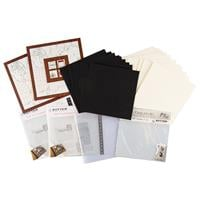 Zutter Album Making Kit - Faux Wood Covers, Cream Pages, Page Pro-746283