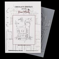 Chocolate Baroque Harbour Master A6 Rubber Stamp Designed by Kim -748389