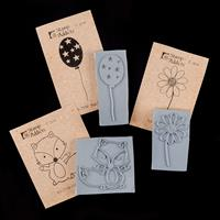 Stamp Addicts Set of 3 Cling Mounted Rubber Stamps - Felix Fox, S-749294