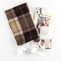 Fabric Affair Tweedy McNutt 100% Wool  Teddy Bear Kit - 14