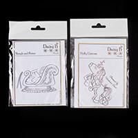 Nina Crafts Holly Unicorn & Sleigh Stamp Set- 4 Stamps-753104