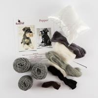 Knit2Felt Pepper the Schnauzer Knitting and Felting Kit-753393