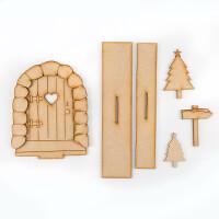 Karacter Krafts Enchanted Christmas Door with Stand & Embellishme-754279