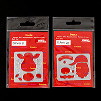 CREAlies Set of 2 Dies   Reindeer   Santa Claus-754356