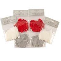 Short Feathers 6 x 100 Piece Packs - White, Grey & Red-759587