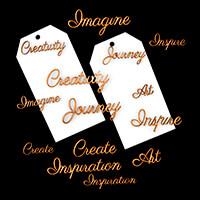 Samantha K Tag Set - 2 Large Acrylic Tags, 7 Large MDF Words & 7 -760259