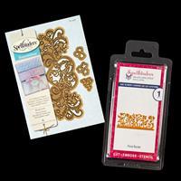 Spellbinders 2 x Shapeabilities Die Sets - Floral Border & Royal -761099