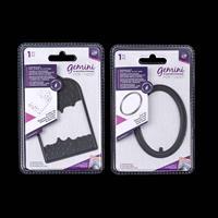 Gemini Elements Foil Stamp 'N Cut Dies x 2 - Oval Tag and Confett-765637