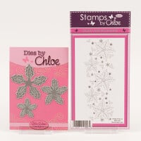 Stamps by Chloe Holly Flower Border and Layered Holly Flower Die-767450