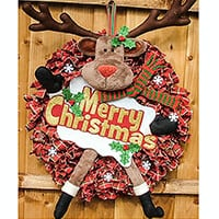 Daisy Chain Designs Rudolph Wreath and Starter Kit - 20