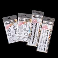 AALL & Create 4 x Stamp Sets - Border Marks, Organics, Makers Mar-775214