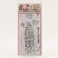 Which Craft? Wonky Tonk Bonny Wee Christmas DL Stamp Set - No Pee-778346