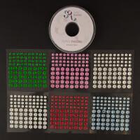 Crafts Too Gem & Ribbon Embellishment Set - 6 x Coloured Gem Pack-778674