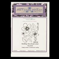 Artisan Design Freeline Fantasy Florals A6 Stamp - Nettlebloom Bu-782558
