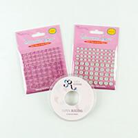 Crafts Too Ribbon & Gem Pack - Pink - 25m White Organza Ribbon & -783662