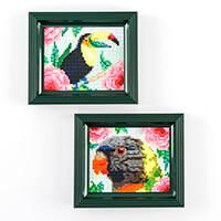 Pixelhobby UK 2 in 1 Tropical Birds Bundle-784874