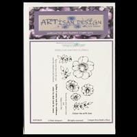 Artisan Design Freeline Fantasy Florals A6 Stamp Sheet - Creeper -787328