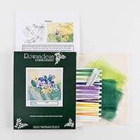 Rowandean Embroidery Pansies Embroidery Kit-787559