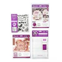 Crafters Companion Paper Crafting Bundle - Die Sets, Stamps & Emb-788046