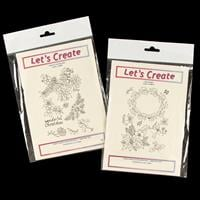 Lets Create 2 x Stamp Sets - Folklore Christmas Bird & Holly Wrea-788844