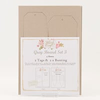 Which Craft? Grey Board Set 3 - Classic Tags and Bunting-789876