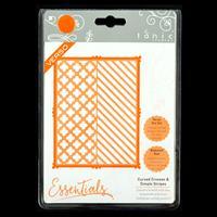 Tonic Essentials Die Set - Curved Crosses & Simple Stripes - 4 Di-790457