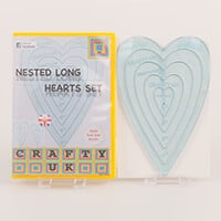 Crafty UK Nested Long Hearts Templates-791144